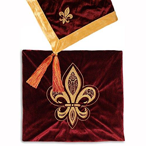 Paoletti Fleur de Lys Burgund Werfen, Rot, 140x 180cm (Burgund Werfen)