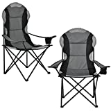 Best sillas de camping - [casa.pro] Set de 2 sillas de Camping Negro Review