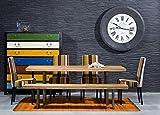 Kare Design Tisch Factory Wood, Esstisch aus Teakholz, Wohnzimmertisch mit Stahlgestell, Esszimmertisch, Braun-Schwarz (H/B/T) 75x160x90cm