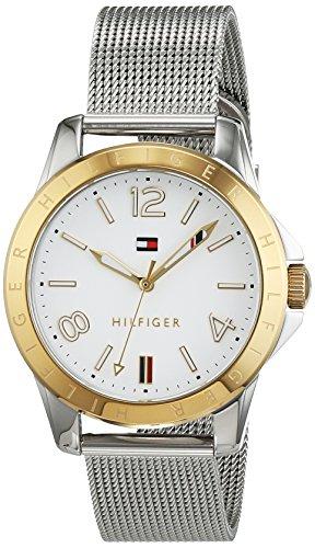 Reloj analógico para mujer Tommy Hilfiger 1781677, mecanismo de cuarzo, diseño clásico, correa de acero inoxidable.