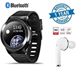 Twogood Advanced S99 Touchscreen Bluetooth Smartwatch With Sim Card Support, Google Navigation, Active Heart Rate Monitor and HD Camera With Single i7 Ultralight Wireless Bluetooth Headset With Active Noise Isolation Technology (1 Year Warranty, Assorted Colour)