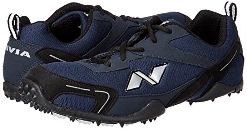 Nivia Men's Marathon Mesh PU Blue and Black Running Shoes - 8 UK