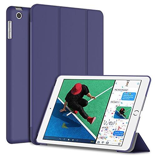 JETech Hülle für iPad (9,7 Zoll, Modell 2018 / 2017, 6. / 5. Generation), Intelligent Schutzhülle mit Auto Schlafen / Wachen, Lila