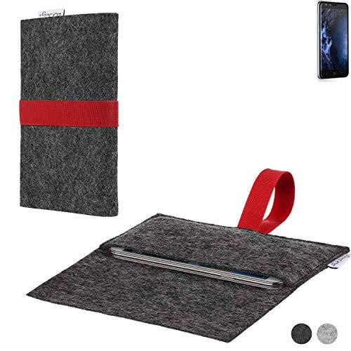 flat.design Handy Hülle Aveiro für Doogee Y6 4G passgenaue Filz Tasche Case Sleeve Made in Germany