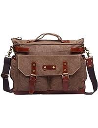 Vintage Shoulder Bag Canvas Crossbody Messenger Bag Tote Bag for Men Women 1974d94e16b82