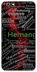 Hemang (One With Shining Body) Name & Sign Printed All over customize & Personalized!! Protective back cover for your Smart Phone : Apple iPhone 4/4S
