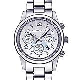 Quartz Uhr Männer Frau Metall Gurt Mode Kalender Wasserdicht Geschäft Freizeit Uhr,B