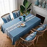 SONGHJ Nappe brodée imperméable Cuisine Rectangle Table Cover De Mariage Preuve De La Poussière À Manger Pique-Nique Table De Tissu B 135x100 cm