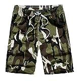 NPRADLA Bademode Badeshorts Badehose Beachwear Swimwear Herren Männer Casual Camouflage Druck...
