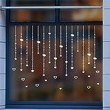 Wandtattoos WandbilderPerle Vorhang Anhänger Sterne Schlafzimmer Schaufenster Dekoration Fenster Glas Neujahr Wandaufkleber Papier Spitze Fenstergitter 35 * 50 CM