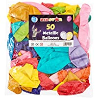 "REDSTAR FANCY DRESS 50 LARGE 12"" METALLIC BALLOONS PARTY BAG FILLERS GOODS CHILDRENS LOOT BAGS TOYS"