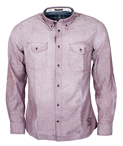 Tom Tailor - camicia da uomo a maniche lunghe button-down