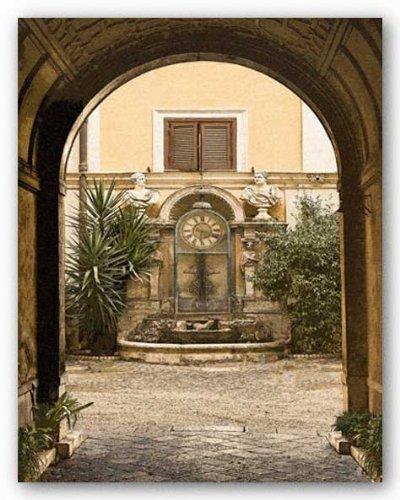 courtyard-clock-von-kenneth-gregg-kunstdruck