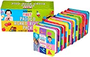 Amazon Brand - Solimo First Padded Board Book Pack, Set of 10