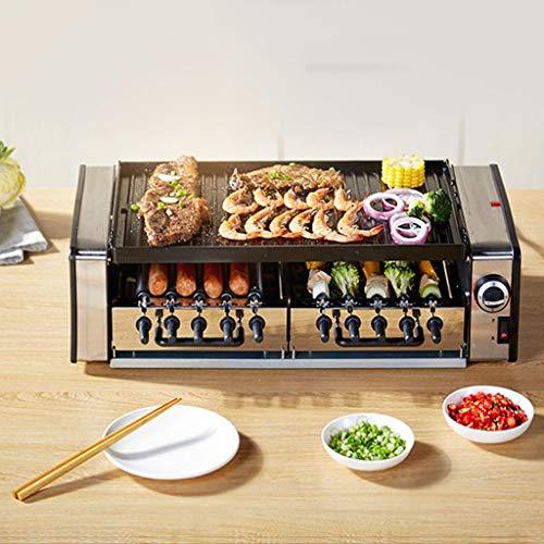 Ggggg forno elettrico casa barbecue alla griglia macchina kebab grill senza fumo barbecue pentola a doppio strato