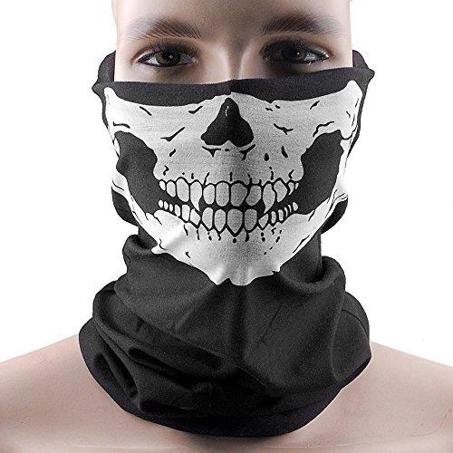 Multifunktionstuch | Sturmmaske | Bandana | Schlauchtuch | Halstuch < Skull Face | Totenkopf > Perfekter Schutz beim Biken, Ski, Snowboard und Motorradfahren