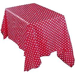MOIKA Essentials Nappe Jtable Rouge Polka Dot Imprimé Hôtel Cuisine Maison Restaurant Impermeable Nappe de Table Rectangular(Rouge,137 * 274)
