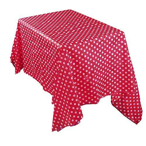 MOIKA Essentials Nappe Jtable Rouge Polka Dot Imprimé Hôtel Cuisine Maison Restaurant Impermeable Nappe de Table Rectangular(Rouge,137 * 274)