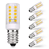 Albrillo E14 LED Warmweiss 3.5W / 330LM mit 32 SMD LEDs, 30W Halogenlampen Ersatz, 5er Pack