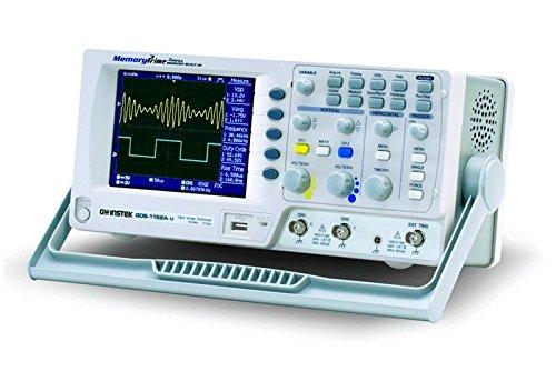 GW Instek GDS-1152A-U Digital-Speicher-Oszilloskop, mit 14,5cm großem LCD-Farbdisplay und USB-Port, Bandbreite 150MHz, 2-Kanal, Anstiegszeit 2,3ns