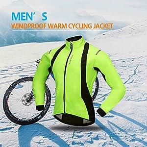 WOSAWE Chaquetas para Hombre, Chaqueta Ciclismo, resistente a la lluvia a prueba de salpicaduras térmica de alta visibilidad de color silver reflectante de OpenRoad Sports Color verde Talla XL