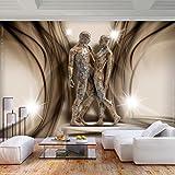 decomonkey | Fototapete Abstrakt Silhouetten 400x280 cm XL | Tapete | Wandbild | Wandbild | Bild | Fototapete | Tapeten | Wandtapete | Wanddeko | Wandtapete | Menschen Skulptur braun