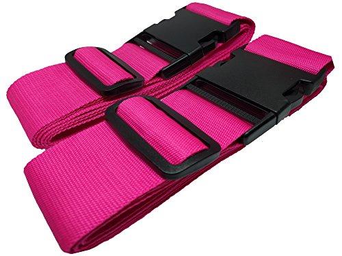 Koffergurt pink / rosa - 1 kaufen + 1 GRATIS dazu. Ihr Gepäck sicher auf Reisen, dank dem robusten und verstellbaren Koffergurt. Auch als...