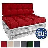 Beautissu Cuscino per bancali di Legno Eco Style - 120x80x15 cm - Comoda Seduta per Divano Pallet di Legno - Rosso