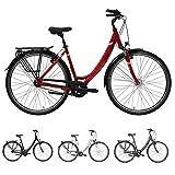 Pegasus Solero SL 7 Gang Wave Damenfahrrad City Bike Damenrad mit Rücktritt 2018, Rahmenhöhe:45 cm, Farbe:rot