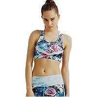 Sujetador de Yoga Impreso EE. UU. Espalda A Prueba de Golpes Poliéster Estiramiento para Mujeres Sujetador Deportivo Ajustable (tamaño : S)