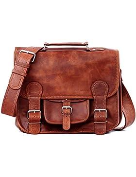 Aktentasche Vintage-Ledertasche Handtasche Schultertasche Umhängetasche Unisex PAUL MARIUS Vintage & retro