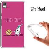 Becool® - Funda Gel Flexible para Bq Aquaris E5 4G E5S .Carcasa TPU fabricada con la mejor Silicona protege, se adapta a la perfección a tu Smartphone y con nuestro diseño exclusivo Leche y cookie para siempre - rosa