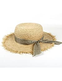 Cappelli da Sole della Paglia della Rafia delle Donne di Modo con i Cappelli  della Spiaggia 245e1d29c1a8