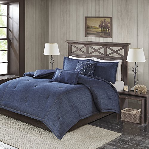 Woolrich Comforter Set, Blue, Lime King