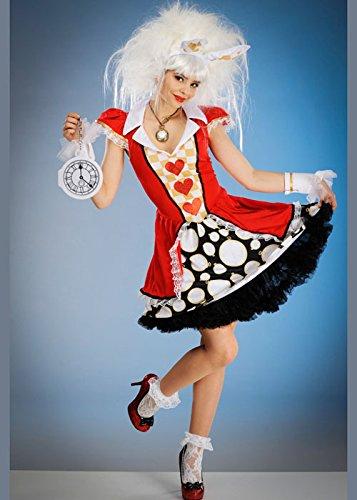Womens Wunderland Spielkarte weißes Kaninchen Kostüm M/L (UK (Kaninchen Kostüm Uk Weißes)