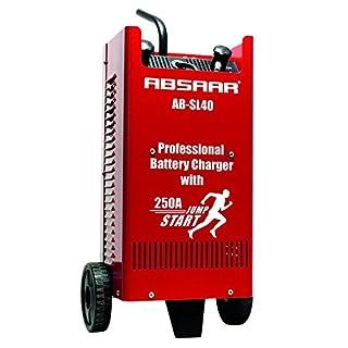 Absaar AB-SL40 Professionelles Batterieladegerät SL40 (inkl. Ladekabel mit isolierten Klemmen und Griffen)