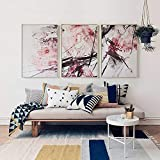 WSNDGWS Nuova Pittura Cinese su Tela, Stile Inchiostro, Pittura Decorativa Domestica, Nessuna Cornice B4 60x80cmx3