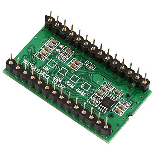 Yaoaoden Hohe Qualität Sound-Modul WT5001M02-28P U-Scheibe Audio-Player-Karte Sprachmodul MP3 Sound für Arduino Grün