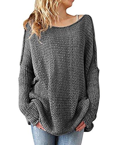 EAAMU®Damen Frauen Lässige Rollkragen Strickpullover Lose Pullover Kleid Sweatshirt Tunika Top Mäntel Minikleid Sweater