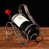 Coface Piano tavolo European Fashion ferro bronzo dell'annata ritorto finitura cromata Wine Rack