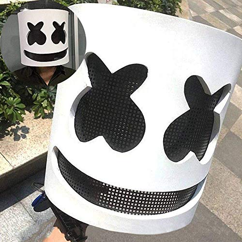 Punk Kostüm Daft Halloween - kldstar Marshmallow-Maske, elektronische Silbe, DJ-Kopfbedeckung, Kostüm, Party, Halloween, DJ-Maske, Gruselige Horror Zombie Maske Props