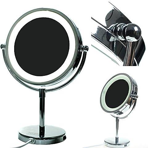 Miroir Grossissant 8 Fois - HIMRY LED 8,5 Pouces Lumineux Miroir cosmétique