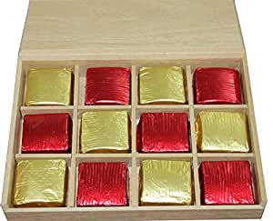 Sanskrite India Wooden Handmade Chocolate Diwali Gift Pack. (Free Express Shipping, 2-3 Days Delivery)