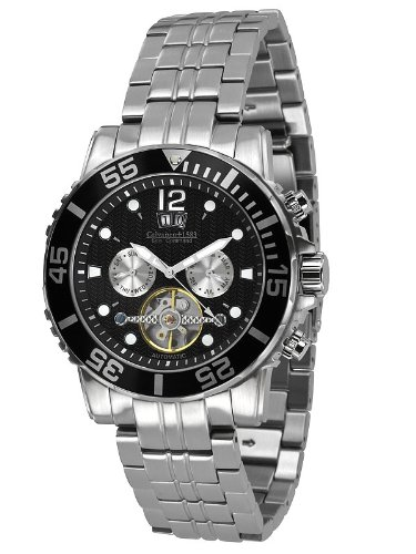 Calvaneo - Calvaneo Sea Command Steel Black Automatic Diver - Mixte - Argent
