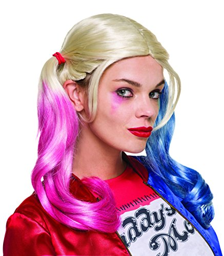 Suicide Squad Perücke Harley Quinn, für Erwachsene in ()