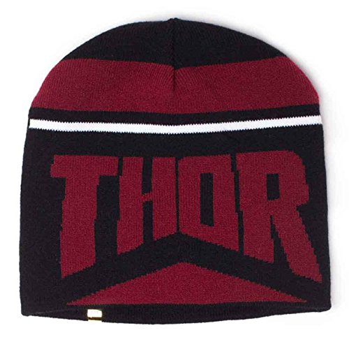 Thor Ragnarok Beanie Hat Thor Hul Reversible Official Marvel Black One Size