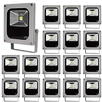 Lot de 20 spots Blanc 10W Day Slim Paysage de jardin LED Lumière) AC 90–240V