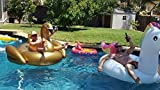 Jasonwell®Riesiger aufblasbarer Einhorn Pool Floß mit speziellen schnell Ventilen - 8
