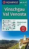 Vinschgau, Val Venosta 1:25 000: 3 Wanderkarten 1:25000 im Set inklusive Karte zur offline Verwendung in der KOMPASS-App. Fahrradfahren. Skitouren [Lingua tedesca]: 670