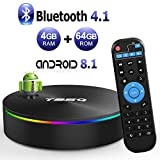 T95Q Android 8.1 TV BOX 4GB RAM 64GB ROM Amlogic S905X2 Quad-core Cortex-A53 Bluetooth 4.1 HDMI 2.1 H.265 4K Risoluzione 1000M Ethernet 2.4GHz e 5GHz Dual Band WiFi Video Player